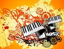 Grunge music vector royalty free illustration