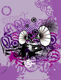 Grunge music vector  Royalty Free Stock Photos