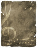 Grunge musical background Royalty Free Stock Photos