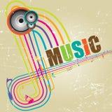 Grunge Musical Background royalty free illustration