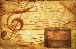 Grunge musical background Royalty Free Stock Photos