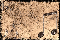 Grunge musical background Royalty Free Stock Photo