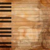 Grunge musical background Stock Image