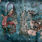 Grunge musical background Stock Photography