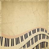 Grunge musical background. With piano keyboard royalty free illustration