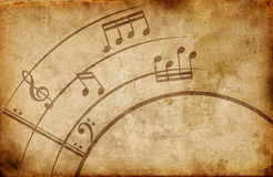 Grunge musical background Royalty Free Stock Images