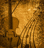 Grunge musical background Stock Images