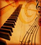 Grunge musical background Royalty Free Stock Image