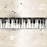 Grunge musical background with abstract piano stock illustration