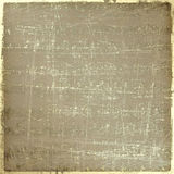 Grunge musical background with gold notes Stock Photography