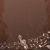 Grunge Musical Background. Vector Backdrop Image Royalty Free Stock Images