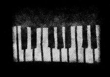 Grunge musical keyboard isolated on black Royalty Free Stock Photos