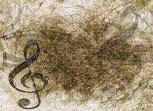 Grunge musical notes background Stock Photos