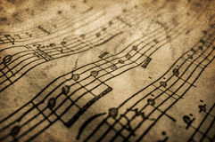 Grunge musical texture Stock Images