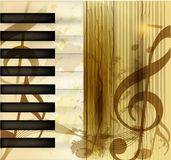 Grunge musical vector background Stock Image