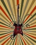 Grunge musicale Fotografia Stock Libera da Diritti