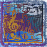 Grunge musicale Images stock
