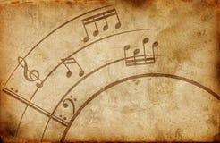 Grunge musicalu tło ilustracji