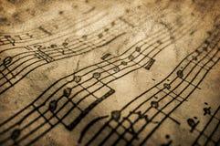 Grunge musicalu tekstura obrazy stock