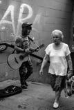 Grunge musician. Street musicians in Voronezh Royalty Free Stock Image