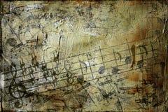 Grunge Musik-Hintergrund Stockfotos