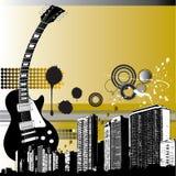 Grunge Musik-Hintergrund Stockbilder