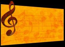 Grunge Musik-Hintergrund Stockfotografie