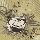 Grunge Musik-Instrument-Hintergrund lizenzfreie abbildung