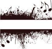 Grunge Musikanmerkungen Stockbild