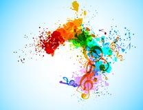 Grunge musikbakgrund Arkivfoto