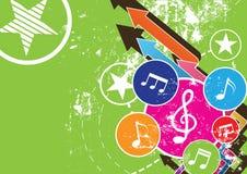 Grunge Musikfestivalhintergrund Lizenzfreies Stockfoto