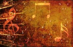 Grunge Musikhintergrund Stockfotografie