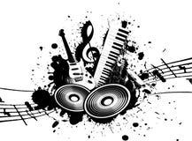 grunge muzyka Obraz Stock