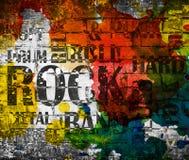 Grunge muzyki rockowej plakat fotografia royalty free