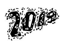 Grunge número 2019 Ilustração do vetor Fotos de Stock