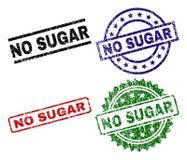 Grunge n'a donné à AUCUN SUGAR Seal Stamps une consistance rugueuse Illustration Libre de Droits