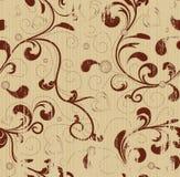 Grunge nahtloser mit Blumenhintergrund Stockbild