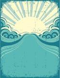 Grunge nature poster background stock illustration