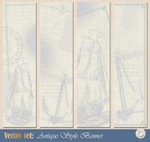 Grunge nautical banner Royalty Free Stock Photos