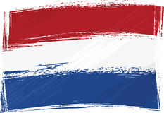 Grunge Netherlands flag Royalty Free Stock Photos