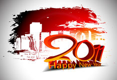 Grunge new year 2011 design. Abstract grunge urban city for new year 2011 colorful design.  Vector illustration Royalty Free Stock Image