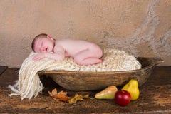 Grunge newborn baby Stock Image