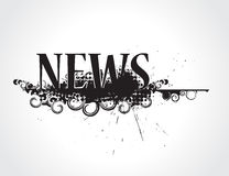 Grunge news icon. Abstract grunge news icon its not trade mark newspaper. vector illustration Royalty Free Stock Photo