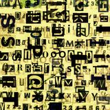 Grunge newspaper, magazine collage alphabet Royalty Free Stock Photo