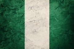Grunge Nigeria Markierungsfahne Nigeria-Flagge mit Schmutzbeschaffenheit lizenzfreie stockfotografie