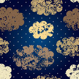 Grunge night sky royalty free illustration