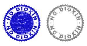 Grunge NO DIOXIN Textured Stamp Seals royalty free illustration