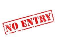 Grunge no entry stamp. On white vector illustration