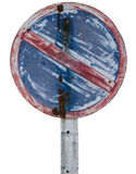 Grunge no parking sign. A grungy no parking sign Stock Photography