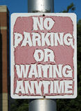 Grunge No Parking Sign. Stock Photography